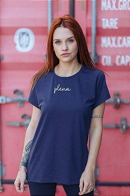 Camiseta Feminina Plena Minimalista Marinho