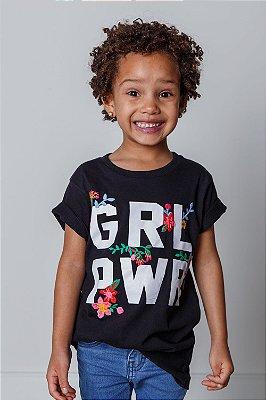 Camiseta INFANTIL GRL PWR Bordada