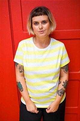 Camiseta Feminina Listrada Limoncello