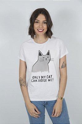 Camiseta Feminina Cat Lovers Branca