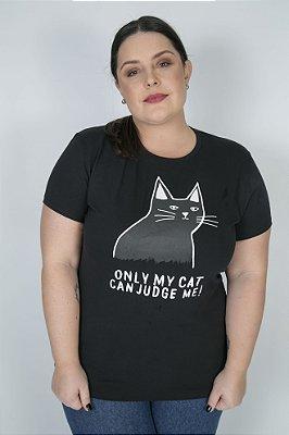 Camiseta Feminina Cat Lovers Preta
