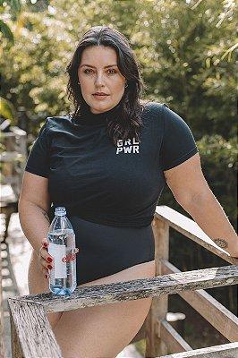 Camiseta Feminina Algodão Orgânico GRL PWR Preta