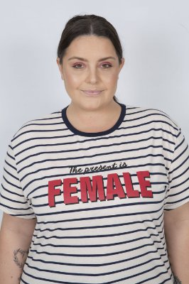 Camiseta Feminina Female Listrada