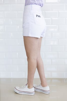 Shorts Mom Jeans Branca Jéssica