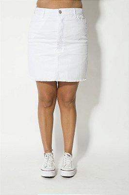 Saia Mom Jeans Branca Jéssica