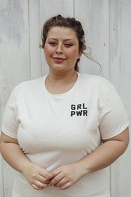 Camiseta Feminina GRL PWR Off White