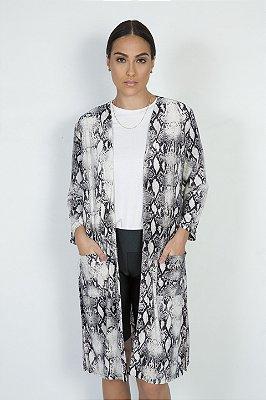 Kimono Cobra Cinza