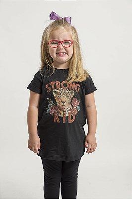 Camiseta Infantil Strong Kid preta