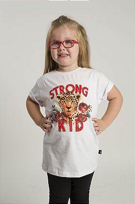 Camiseta Infantil Strong Kid Branca