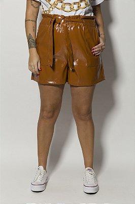 Shorts Vinil Marrom