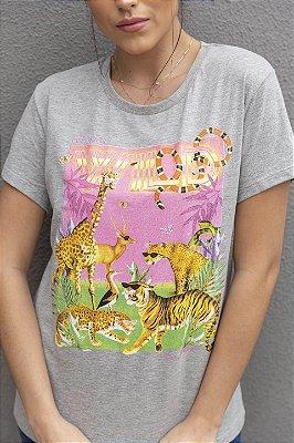 Camiseta Feminina Wild Mescla