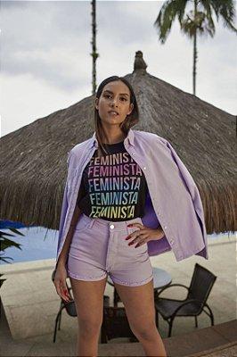 Camiseta Feminina Feminista Preta