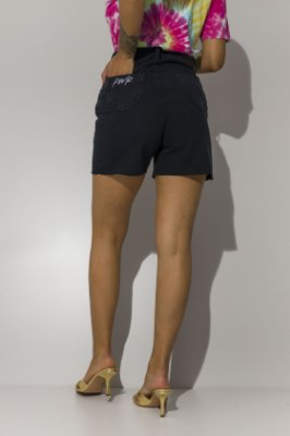 Shorts Jeans Preto Destroyed Andy