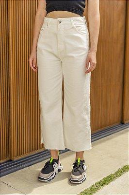 Calça Jeans Cropped Flare Bárbara Off