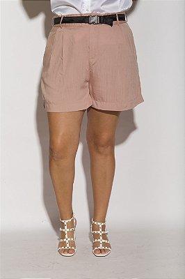 Shorts Alfaiataria Viscolinho Rosê