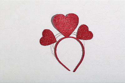 Tiara Carnaval Corações Vermelho