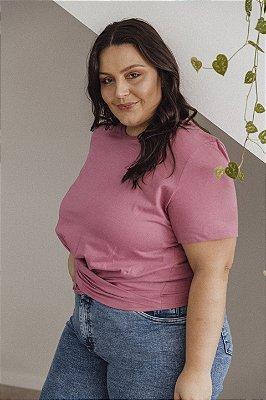 Blusa Transpassada Rosa Antigo