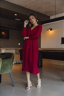 Vestido Alfaiataria Braga Vermelho