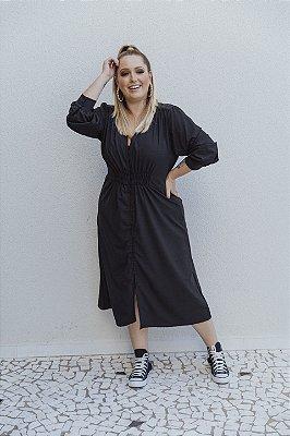 Vestido Alfaiataria Braga Preto