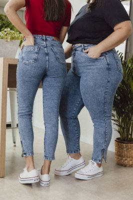 Calça Jeans Cigarrete com Zíper Alessandra Jeans