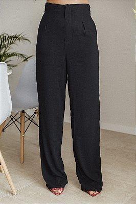 Pantalona Longa Viscolinho Preta