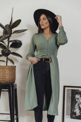 Vestido Alfaiataria Braga Verde