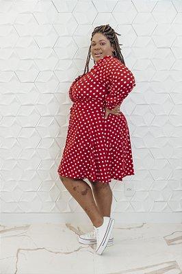 Vestido Poá Vermelho Alice