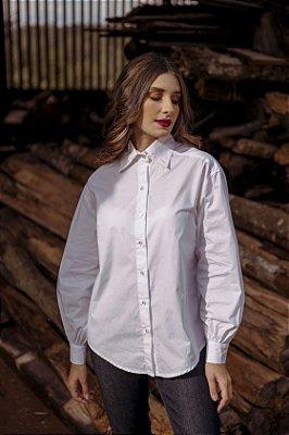 Camisa Alfaiataria Manga Bufante Branca