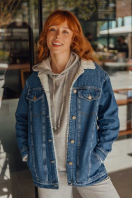 Jaqueta Jeans Peluciada Eloisa