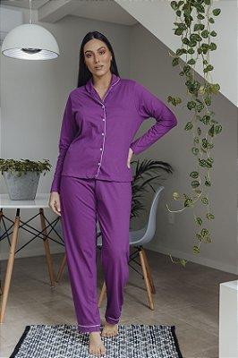 Pijama Manga Longa Roxo