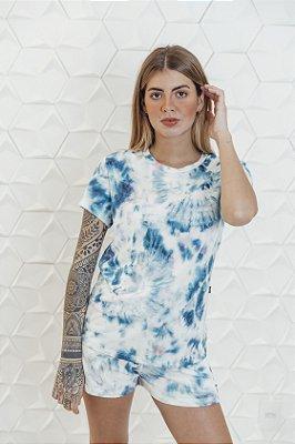 Camiseta Feminina Tie Dye Azul