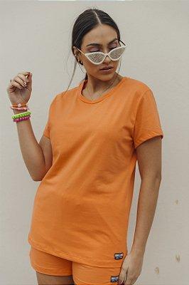 Camiseta Feminina Básica Laranja