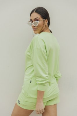 Blusa Manga Longa Básica Verde