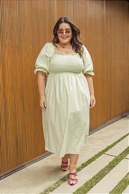 Vestido Jess Xadrez Verde
