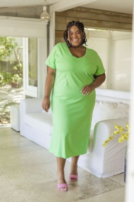 Vestido Mortícia MIDI Verde Abacate
