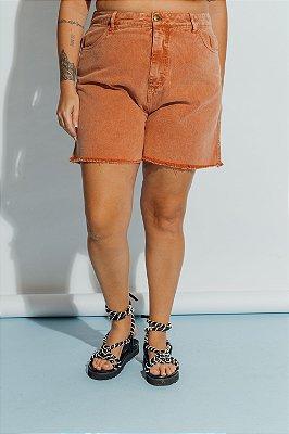 Shorts Jeans Caramelo Estonado
