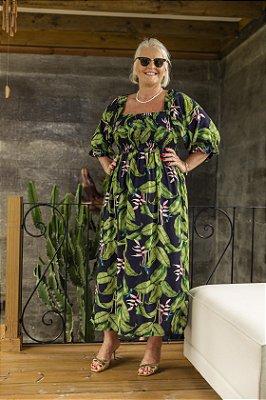 Vestido Jess Folhagens