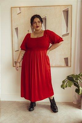 Vestido Jess Básico Vermelho