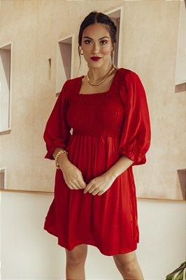 Vestido Jess CURTO Vermelho