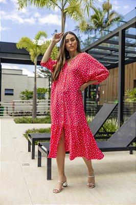 Vestido Luiza Poá Vermelho
