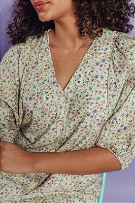 Vestido Luiza Floral Marfim