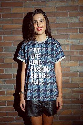Camiseta Moletom Leve Xadrez
