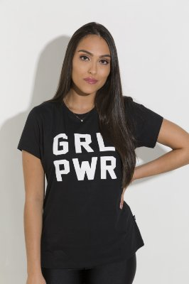 Camiseta Feminina Girl Power - GRL PWR