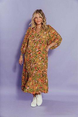 Vestido Luiza Floral Caju
