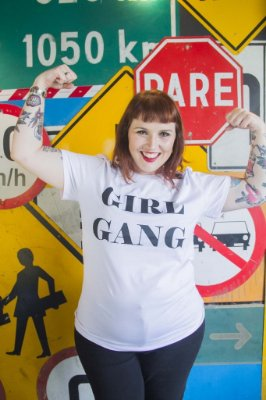 Camiseta Feminina Girl Gang Branca