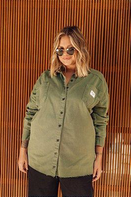 Camisa Jeans Verde Militar