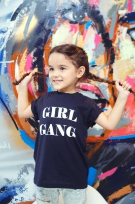 Camiseta Infantil Girl Gang Black