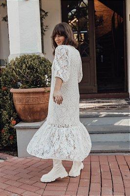 Vestido Luiza Rendado Branco