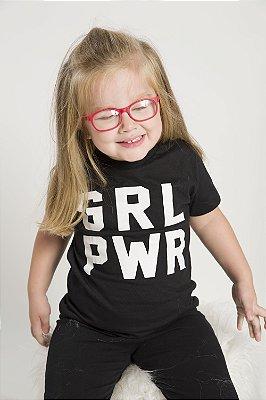 Camiseta Infantil GRL PWR Preta