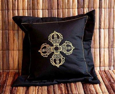Almofada com Símbolo Budista Dorje Duplo